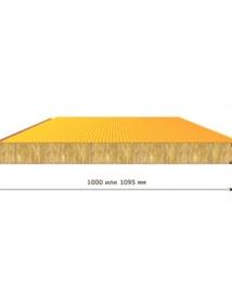 Стеновая трехслойная сэндвич панель со скрытым креплением SECRET FIX МП ТСП-S
